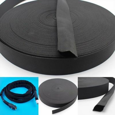 Welding Torch Protective Sleeve 25FT Cable Cover Hose Tig Black High quality
