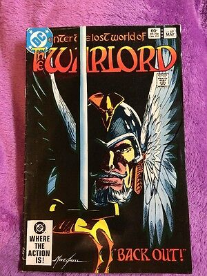 The warlord #69 rare bronze age signed by gary cohn dc comics comic book vintage