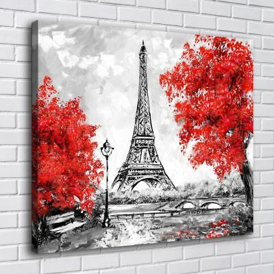 Paris Eiffel Tower Home Decor Room HD Canvas Print Picture Wall Art Painting
