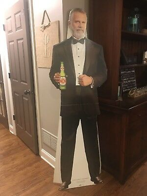 MOST INTERESTING MAN IN THE WORLD in tuxedo SIGN STAND UP Dee (Dos Equis) NEW XX