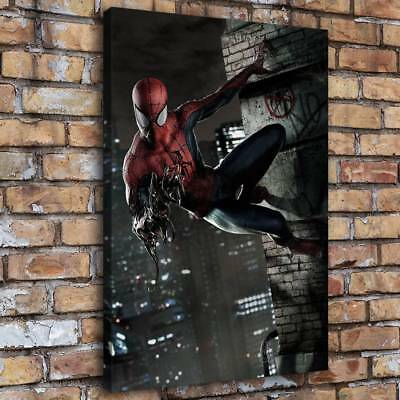 Venom and Spider-Man Home Decor Room HD Canvas Print Picture Wall Art Painting