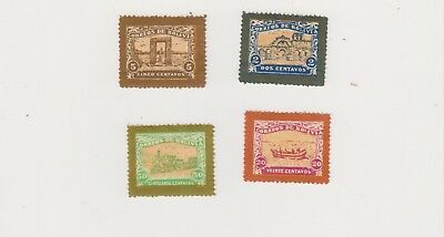 Bolivia unissued mint 1914 railroad stamps 4 items