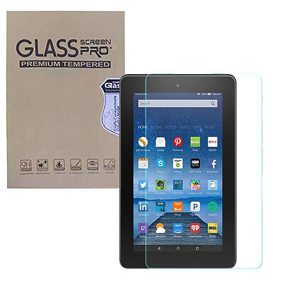 For All-New Amazon Fire 7 2015 Tempered Glass Screen Protector Film