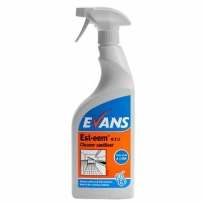 Evans Vanodine Est-eem Cleaner Sanitiser Un-perfumed 750ml Spray