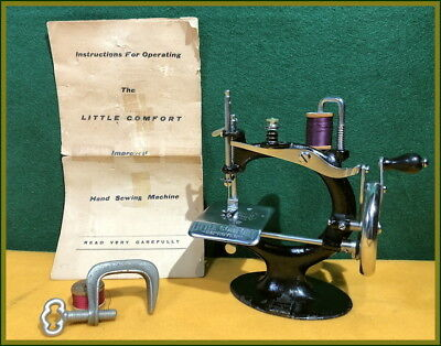 Rare~ Antique Smith & Egge ~Little Comfort~ Toy Hand Crank Sewing Machine