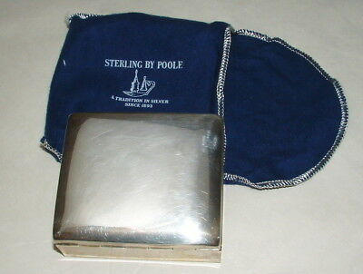 Poole Sterling Silver Cigarette Case Unused In Original Box
