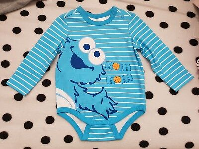 Boys new COOKIE MONSTER romper size 0