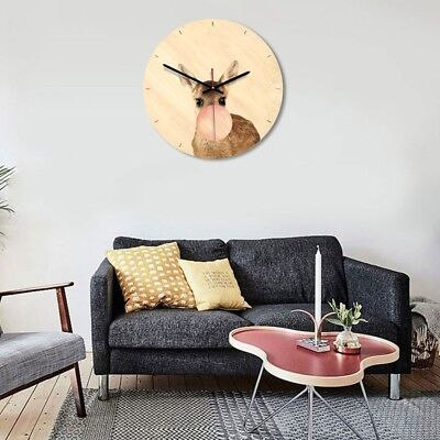 1Pcs Nordic Style Clock Wooden Round Clock Timer for Living Room Nursery Bedroom