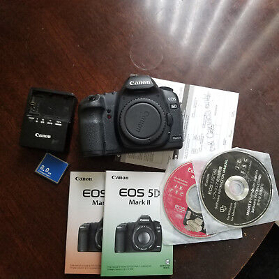 Canon EOS 5D Mark II 21.1MP Digital SLR Camera - Black (Body Only) *Barely Used*