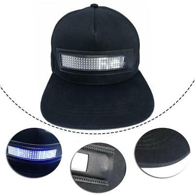 Cool Hat LED Screen Light Waterproof  with controlled Smartphone  Fashion