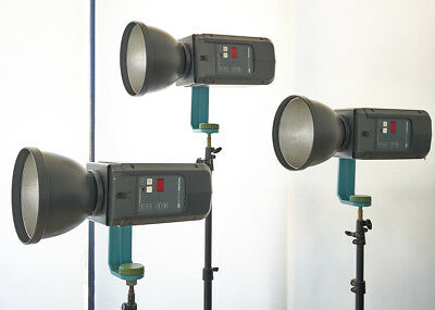 $2295 only!  BRONCOLOR COMPULS - COMPLETE 3 LIGHT STUDIO FLASH SYSTEM 4800 w/s