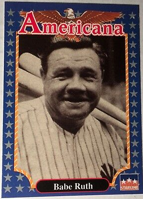 FUN EDUCATIONAL FACTS 1992 Americana Mint Condition Trading Card BABE RUTH #245