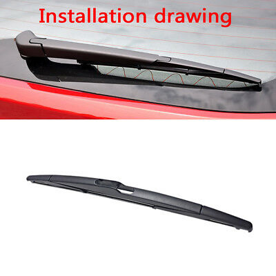 "1Pc 12"" Rear Window Windshield Wiper Blade For Ford Fiesta Mk7 Focus Mk3 Mondeo"