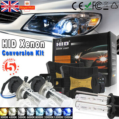 55W H1 H7 H4 HID Xenon Bi-xenon Conversion Kit Car Hi/Lo Headlight Slim Ballasts