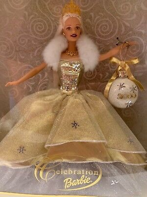 Barbie Holiday Celebration Barbie Doll 2000 Special Edition Gold Christmas NIB