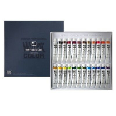 Shinhan Professional Artist Drawing Watercolor Paint Set 24 Colors Supplies_VA
