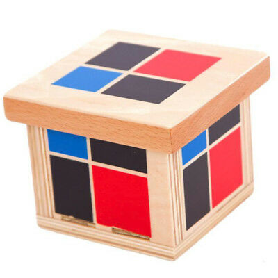Kid Child Early Binomial Educational Aids Wooden Cube Block Toy For Classroom