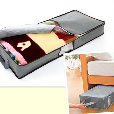 Zipped Clothes Duvet Clothing Pillow Under Bed Handle Storage Organizer Bag Oma