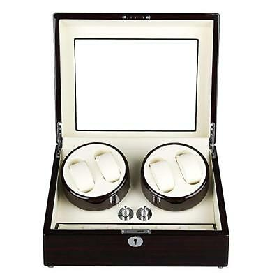 Excelvan High Quality Rectangle Watch Winder Mute Automatic Double Watch Winder