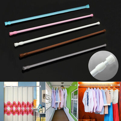 Extendable Telescopic Spring Loaded Tension Curtain Voile Net Shower Rod Pole_OM