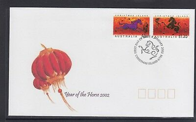 CHRISTMAS IS  2002  Year of the HORSE Design set of 2 on FDC