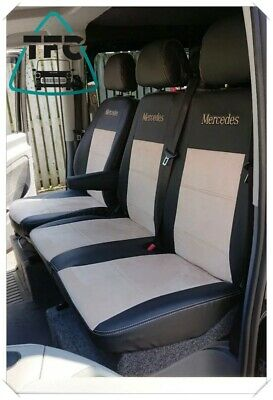 Red Eco-Leather Universal VAN Seat Covers 2+1 fit Mercedes Vito W638 up to 2014