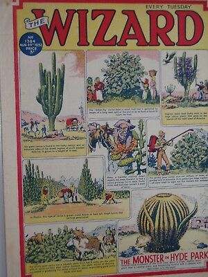 THE WIZARD Comic......D C Thomson....23rd August 1952.....free postage