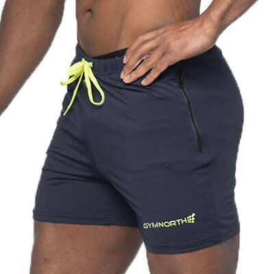 Gym North Men's Shorts Running Jed Bodybuilding Workout Tight Lifting Short New