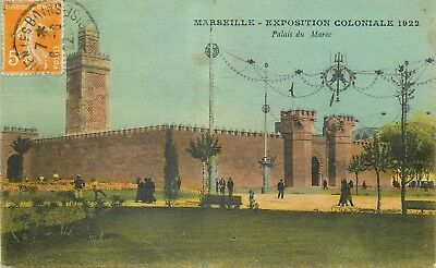 Cp Marseille Exposition Coloniale 1922 Temple Angkor-Vat