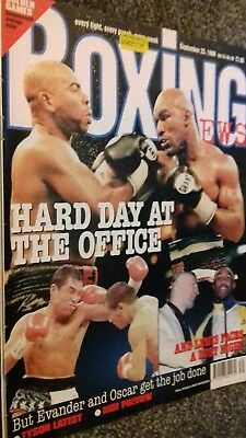 Sept18Th 1998 Boxing News Previews Holyfield V Vaughn  Bean /De La Hoya V Chavez