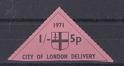 1971 STRIKE MAIL CITY OF LONDON DELIVERY 1/- 5p STAMP MNH (b)