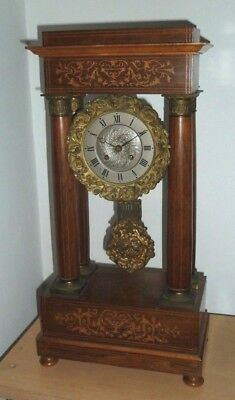 Antique French Portico Clock for spares or restoration