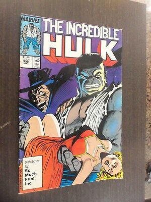 the incredible hulk1987 # 335 marvel comic dist. by so much fun