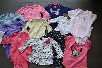 LARGE LOT BABY GIRLS CLOTHES LONG SLEEVE SHIRTS SPRING FALL SIZE 6 Months