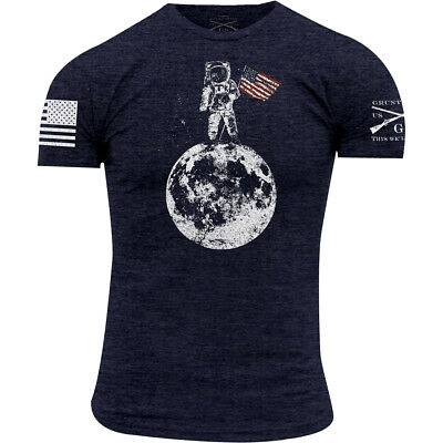 Grunt Style Finders Keepers Crewneck T-Shirt - Heather Navy