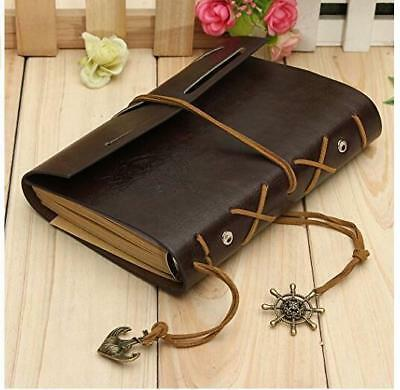 Vintage Retro Leather Cover Journal Diary Blank Book Notebook Writing Book
