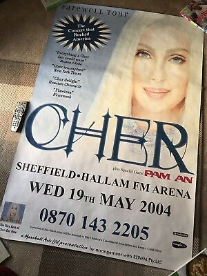 Rare CHER 'The Farewell Tour' 5ft X 3ft Poster *V.GOOD CONDITION* Pop / Concert