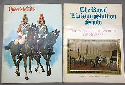 Lot of 2 Equestrian Programs 1968-1971 Royal Lipizzan Stallions & Queen's Guards