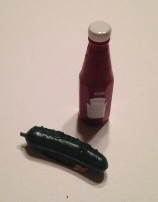 Set of 2 - Heinz Pickle Pin and Tomato Ketchup Pins Badges Premium