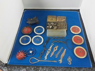 selection of vintage old  Meccano mixed bits job lot selection collectable toys