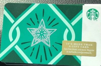 "Lot Of 3 Starbucks ""Silver Star "" Recycled Paper 2018 gift cards  NEW!"