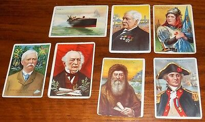 Lot Of 7 1911 Miners Tobacco Bengals Cigar HEROES OF HISTORY Cards Stanley