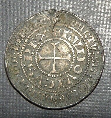 Large Medieval Crusader Cross Coin Antique 1200-1400 AD Silver Knight Templar