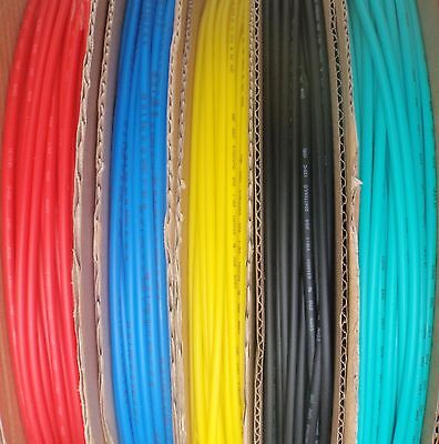 "5' LENGTH HEAT SHRINK TUBING 1/8"" 3mm 5 COLORS 1 FOOT EACH"