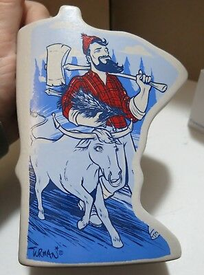 NEW Paul Bunyan & Babe Blue Ox Vase by Red Wing Stoneware Minnesota Shaped