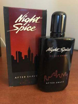 Old Spice Night Spice After Shave 4 Fl.oz. Nib 1989 No.3780 Made By Shulton