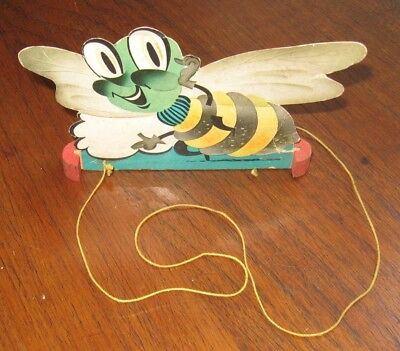 Vintage Atlas Tire Advertising Trading Bee on wood stand or toy State College PA