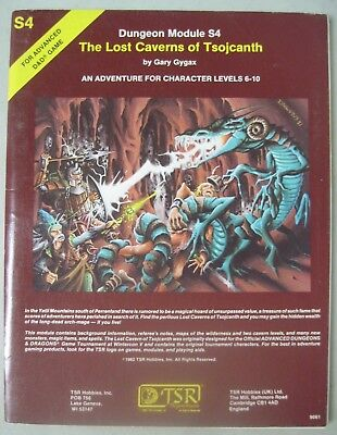 Tsr Add Advanced Dungeons & Dragons 9061 The Lost Caverns Of Tsojcanth S4 1982