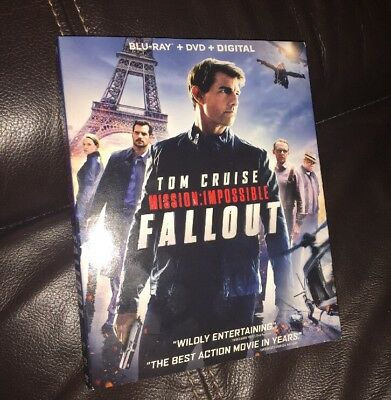 Mission: Impossible Fallout Blu-ray + DVD + Digital Tom Cruise - New  Slip Cover