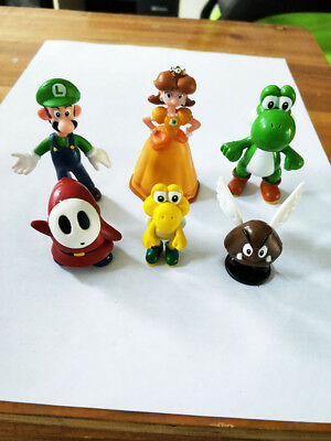 Super Mario Bros 6 pcs Action Figure Doll Playset Figurine Gift High Quality A2